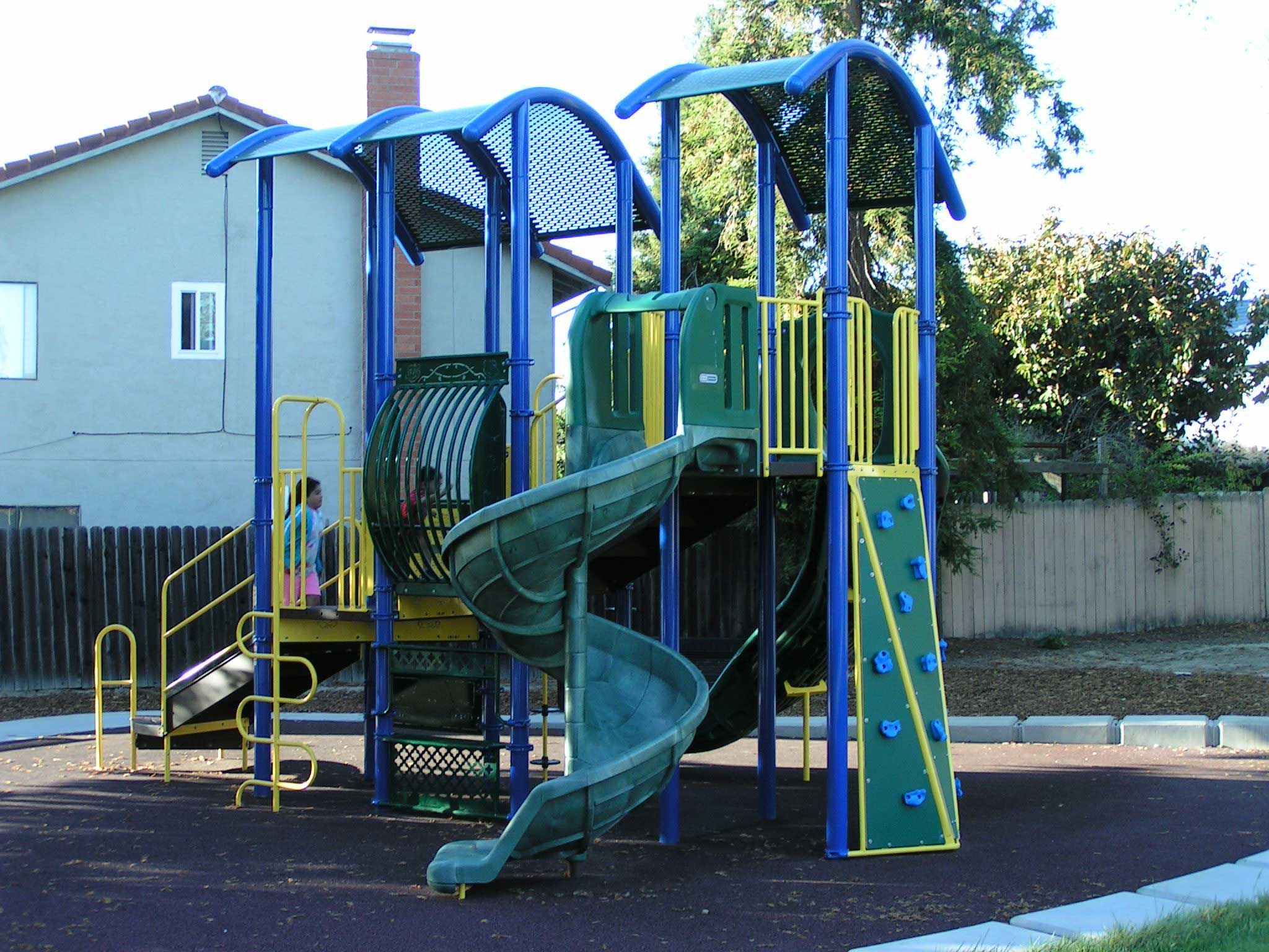 new playground for apartment complex