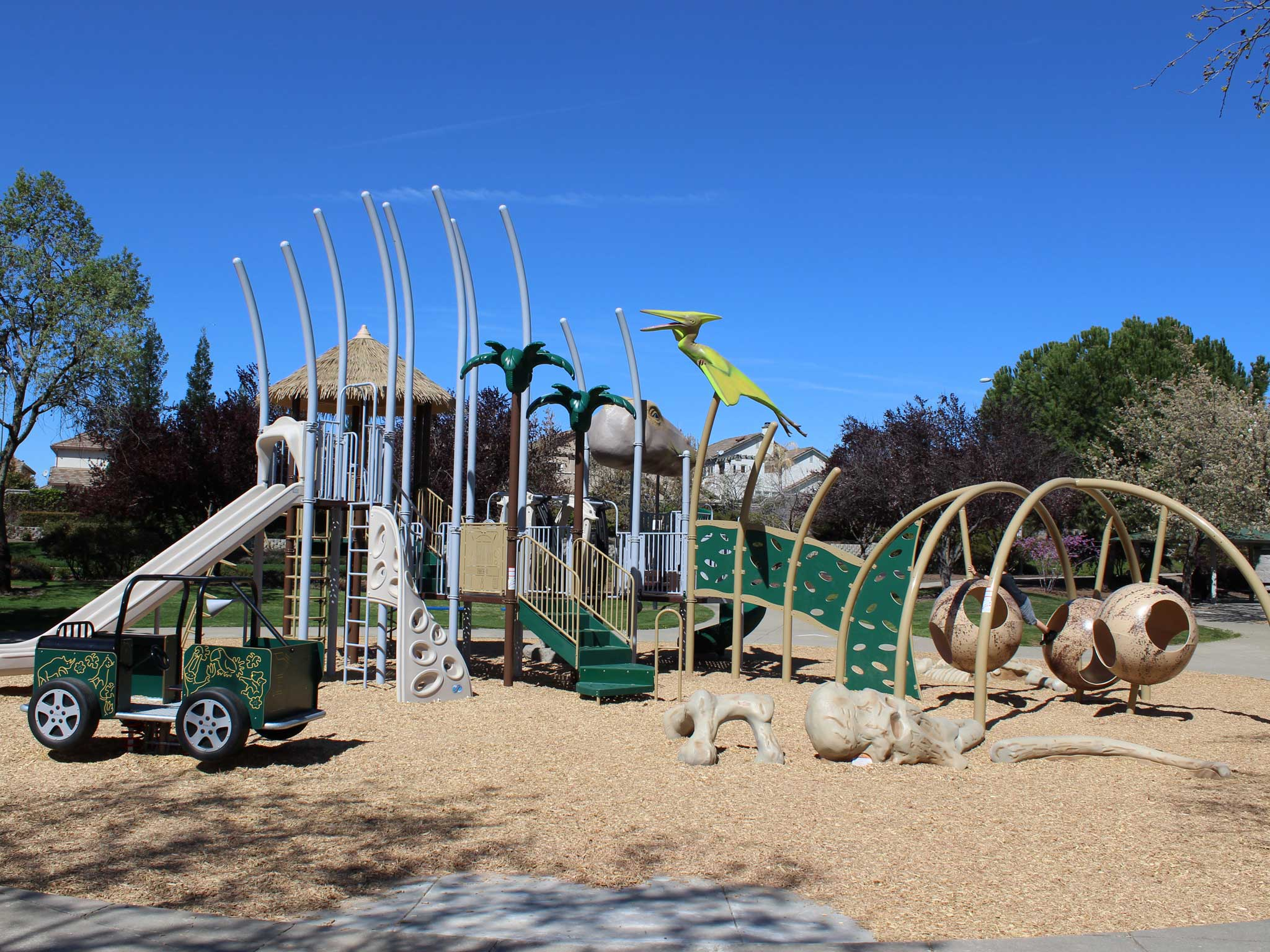new jurassic playground structure in roseville