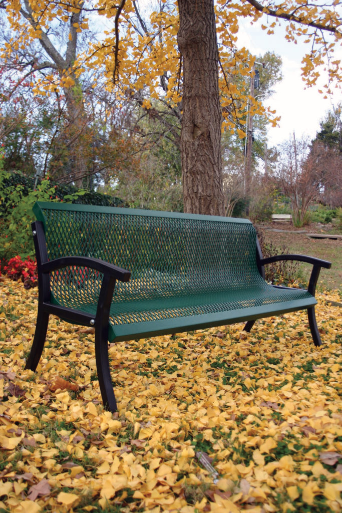 Rubber Coated Park Bench