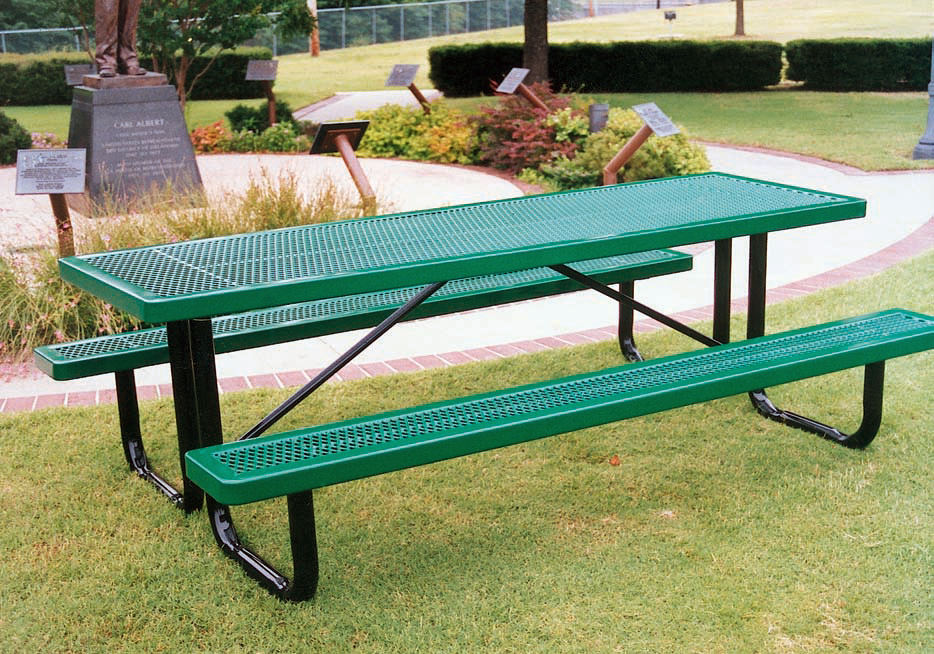 Green Picnic Table